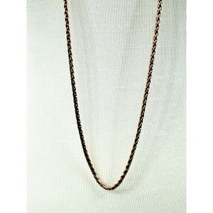 J. Crew rose gold long chain necklace